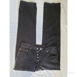 Levi's 501 Black Vintage Jeans Button Fly 33x36